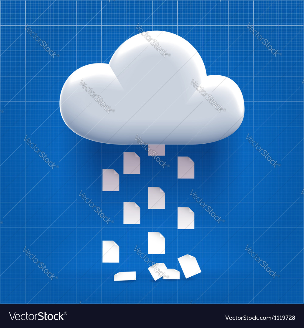 Downloading from cloud storage vector | Price:  Credit (USD $)
