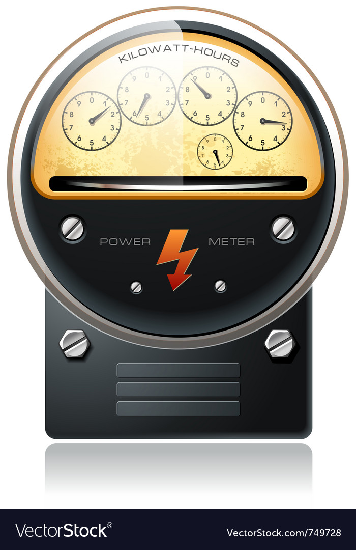 Electricity hydro power counter vector | Price: 3 Credit (USD $3)