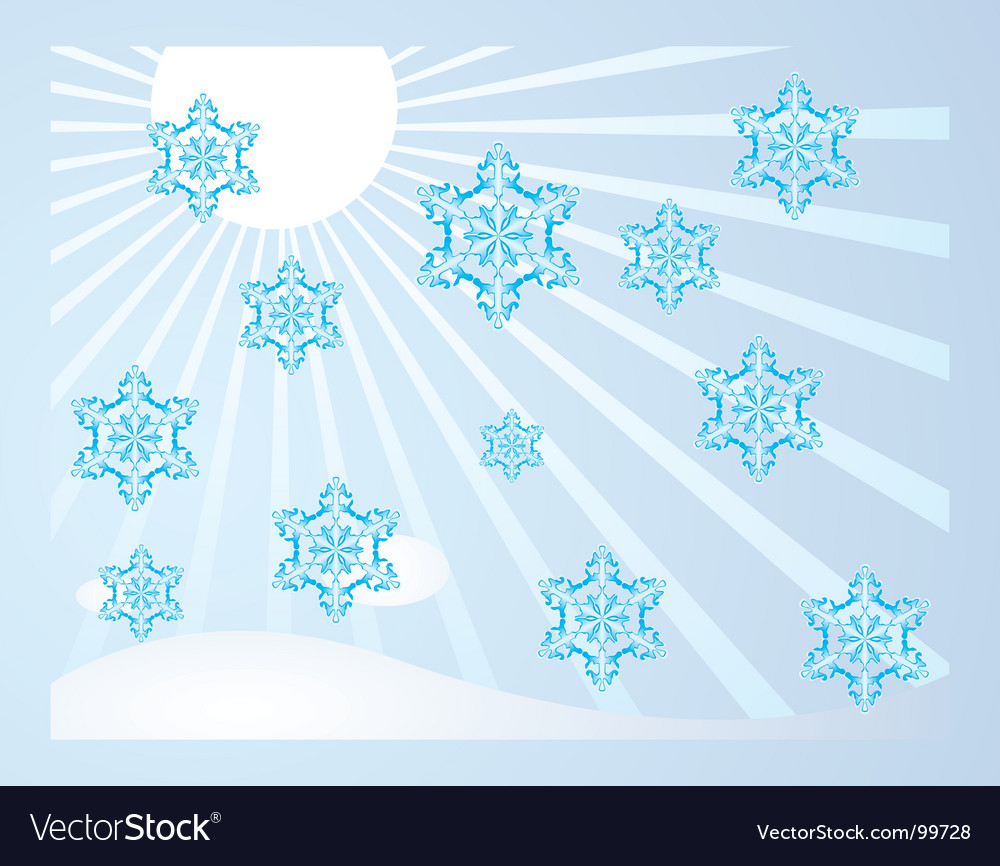 Falling snowflakes vector | Price: 1 Credit (USD $1)
