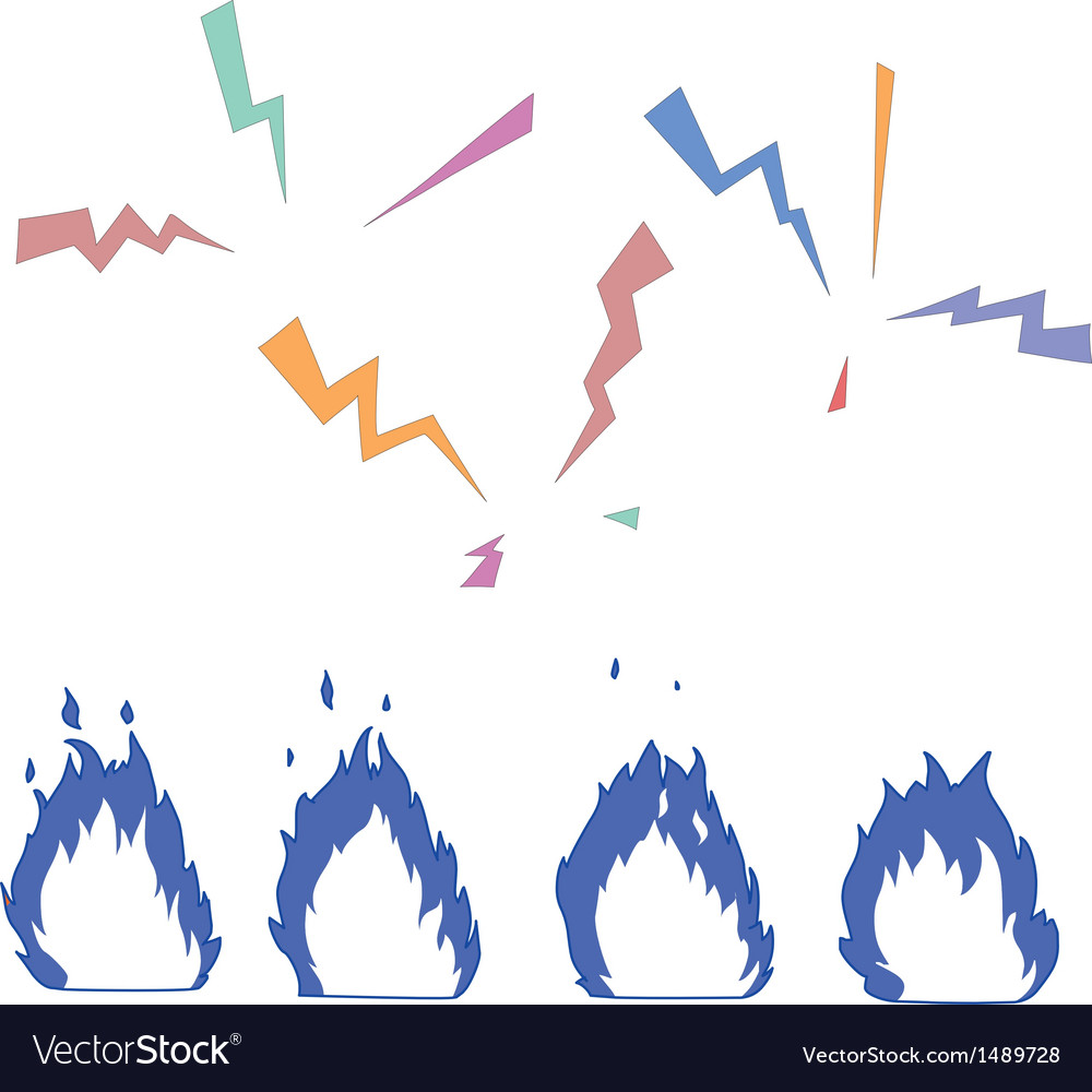 Fire and lightning vector | Price: 1 Credit (USD $1)