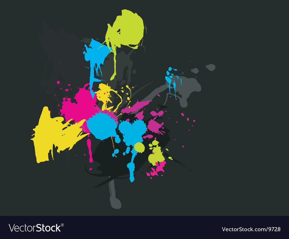 Paint splatters vector | Price: 1 Credit (USD $1)