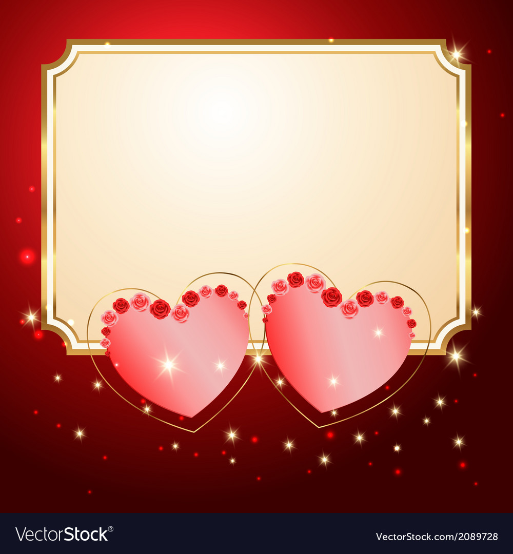 Postcard with hearts vector   Price: 1 Credit (USD $1)