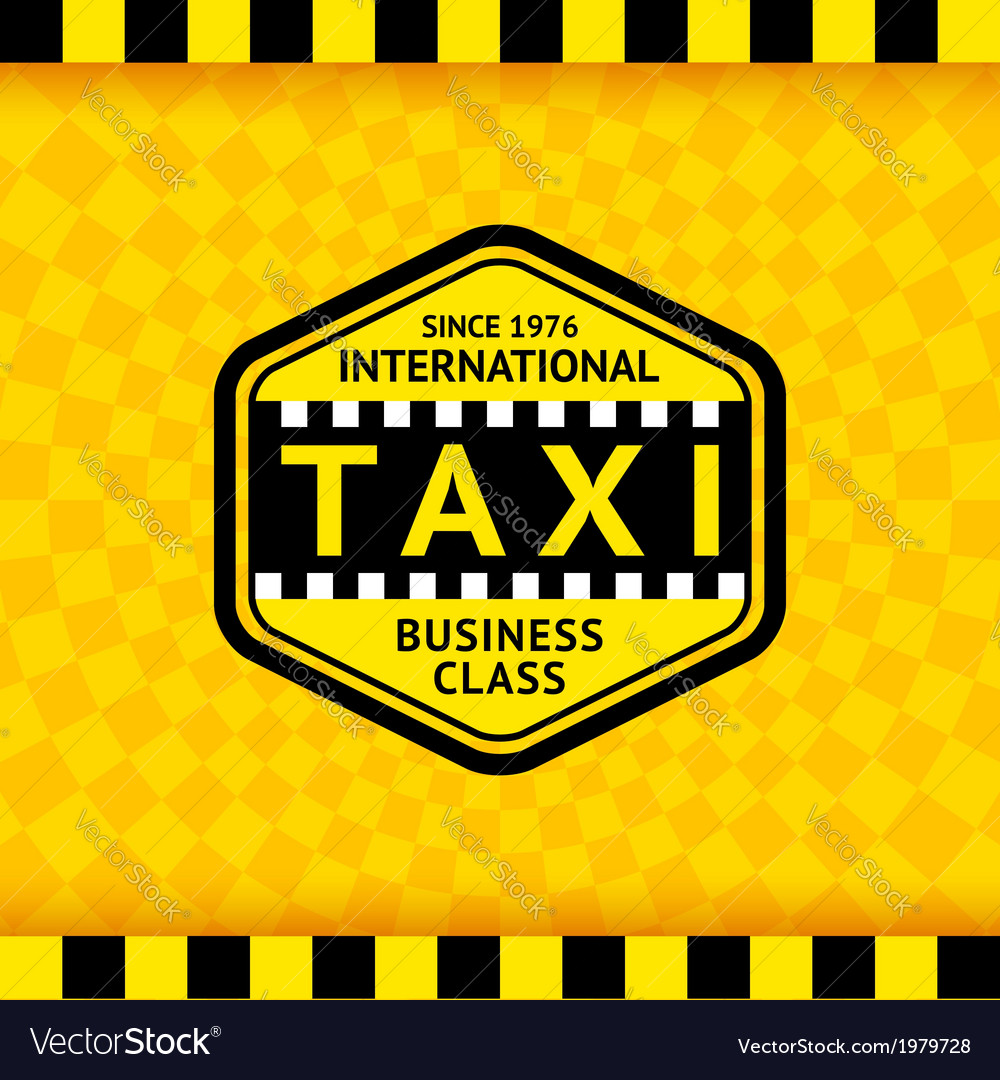 Taxi symbol with checkered background - 22 vector | Price: 1 Credit (USD $1)