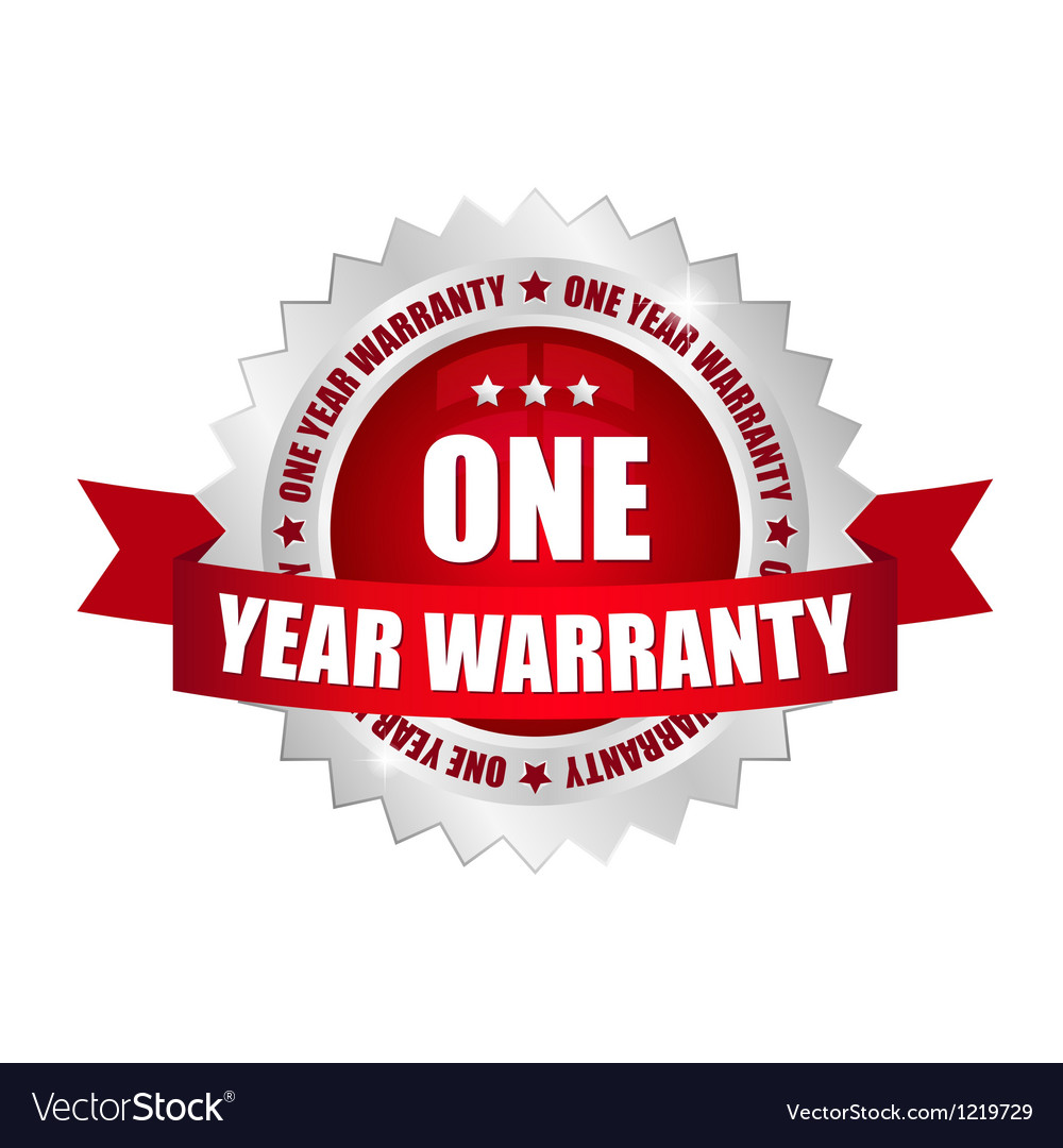 1 year warranty button vector | Price: 1 Credit (USD $1)