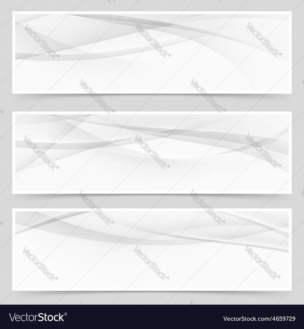 Abstract swoosh modern wave layout card set vector