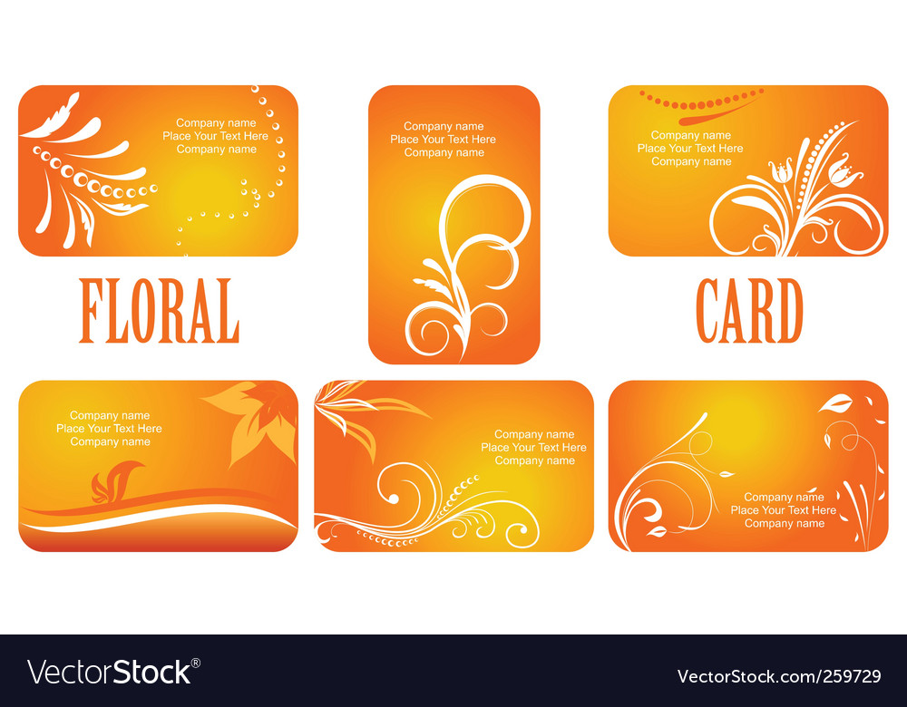 Autumn business cards vector | Price: 1 Credit (USD $1)