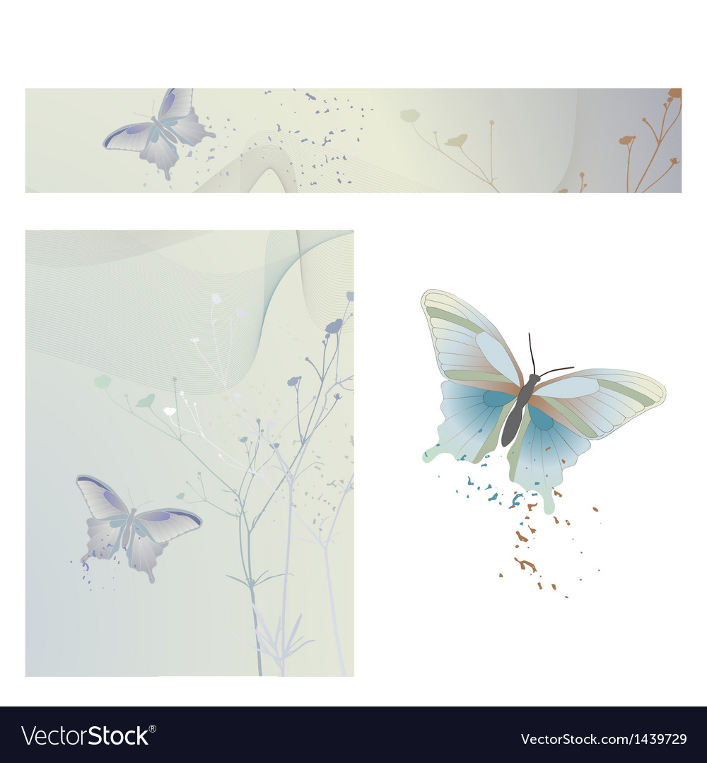Butterflies - wallpaper ready for use vector | Price: 1 Credit (USD $1)