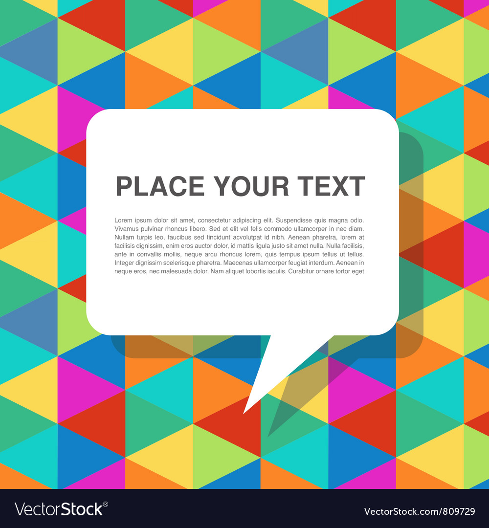 Colorful abstract template with speech bubbles vector | Price: 1 Credit (USD $1)