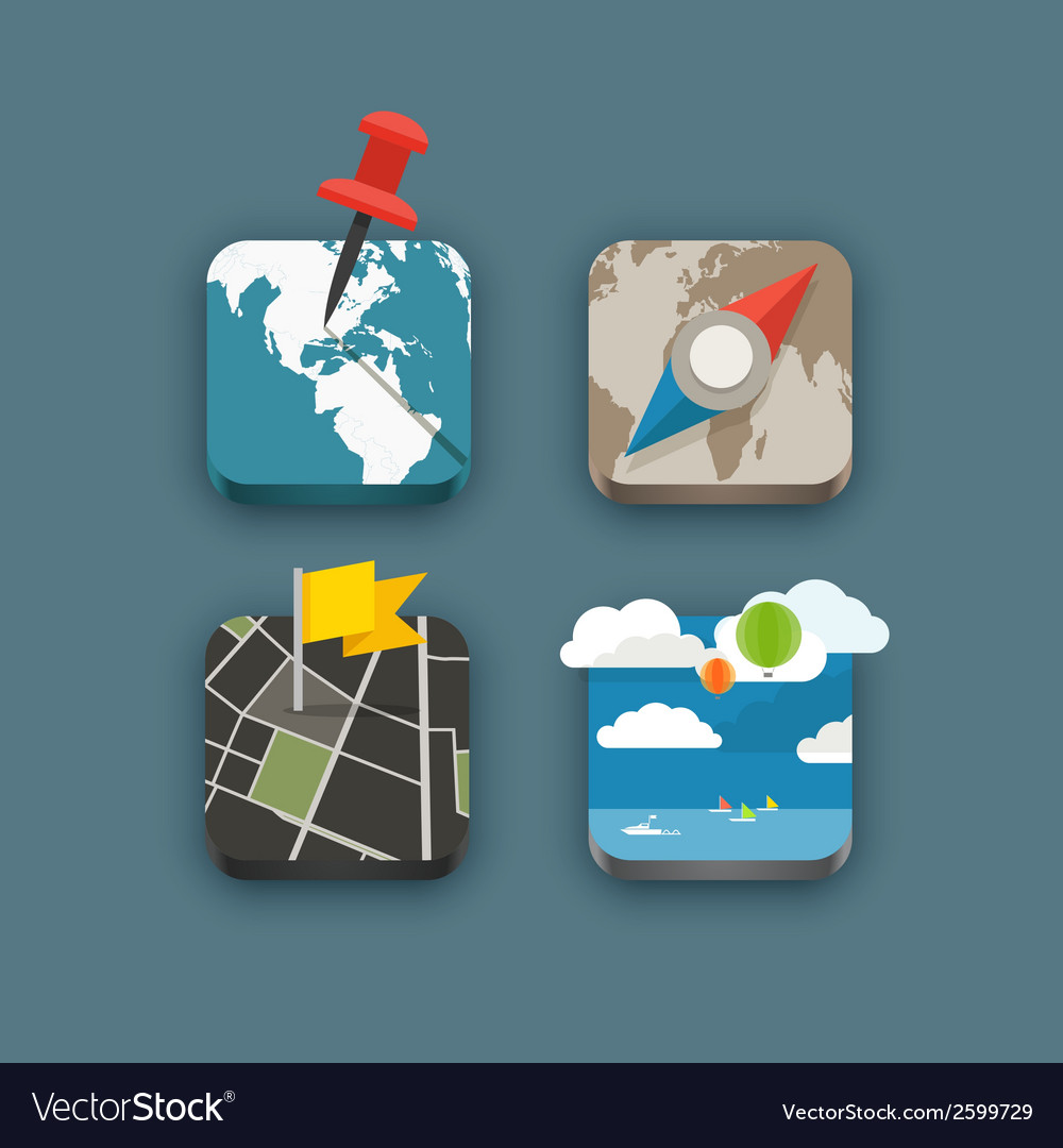 Different travel icons set vector | Price: 1 Credit (USD $1)