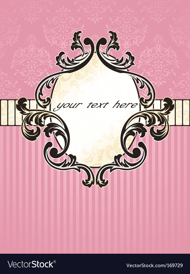 Elegant oval french vintage label vector | Price: 1 Credit (USD $1)