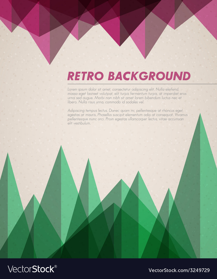 Grunge retro background template vector | Price: 1 Credit (USD $1)