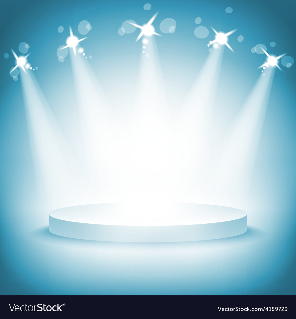 Illuminated stage podium award ceremony vector | Price: 1 Credit (USD $1)