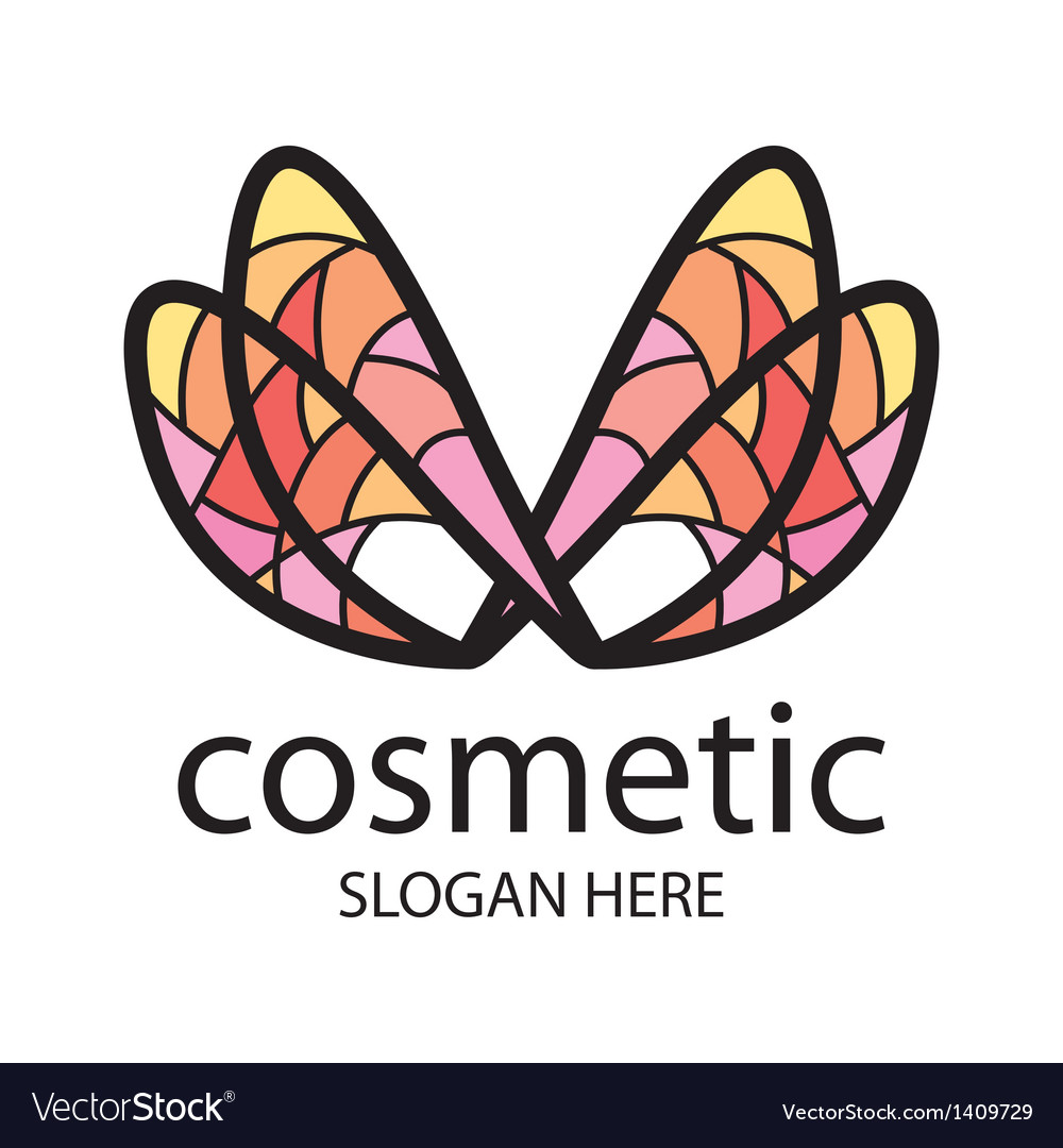 Logo in the form of multi colored wings vector | Price: 1 Credit (USD $1)