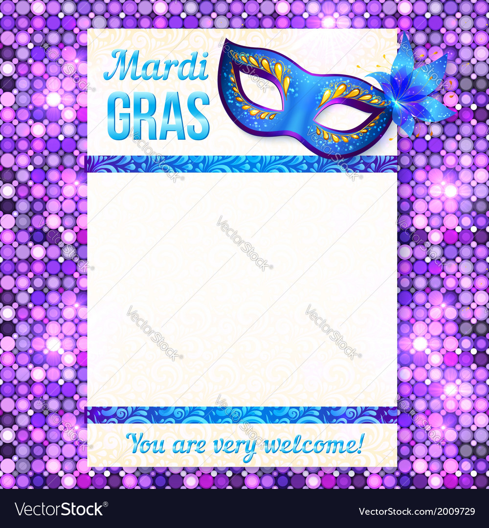 Mardi gras carnival poster template vector | Price: 1 Credit (USD $1)