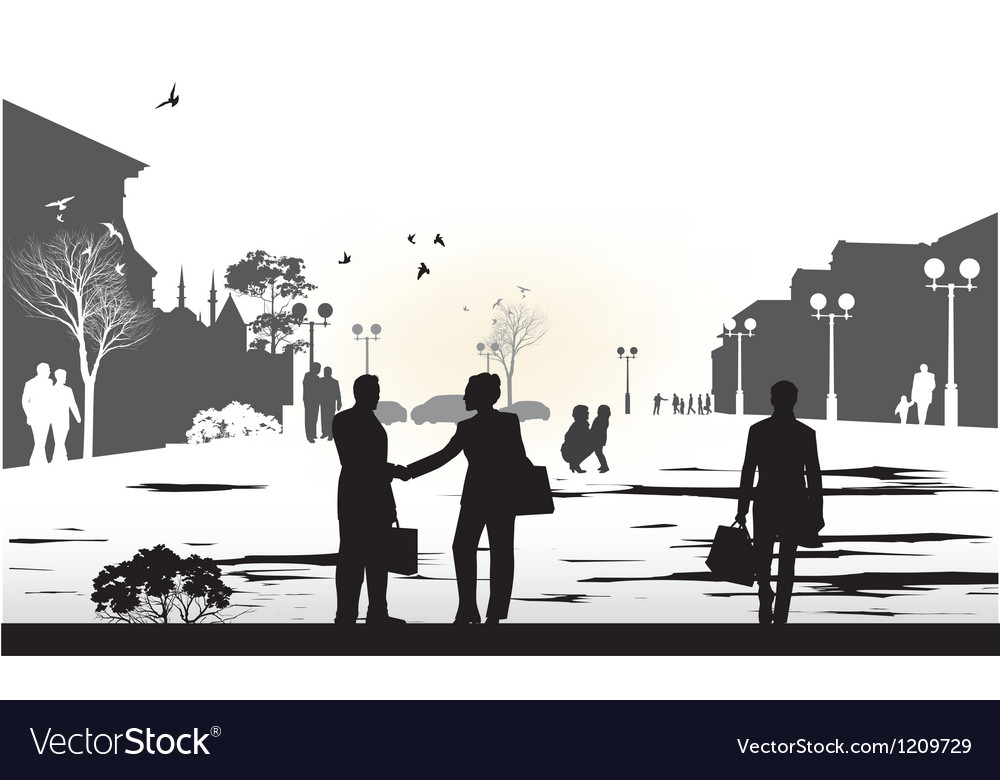 People gray silhouettes vector | Price: 1 Credit (USD $1)