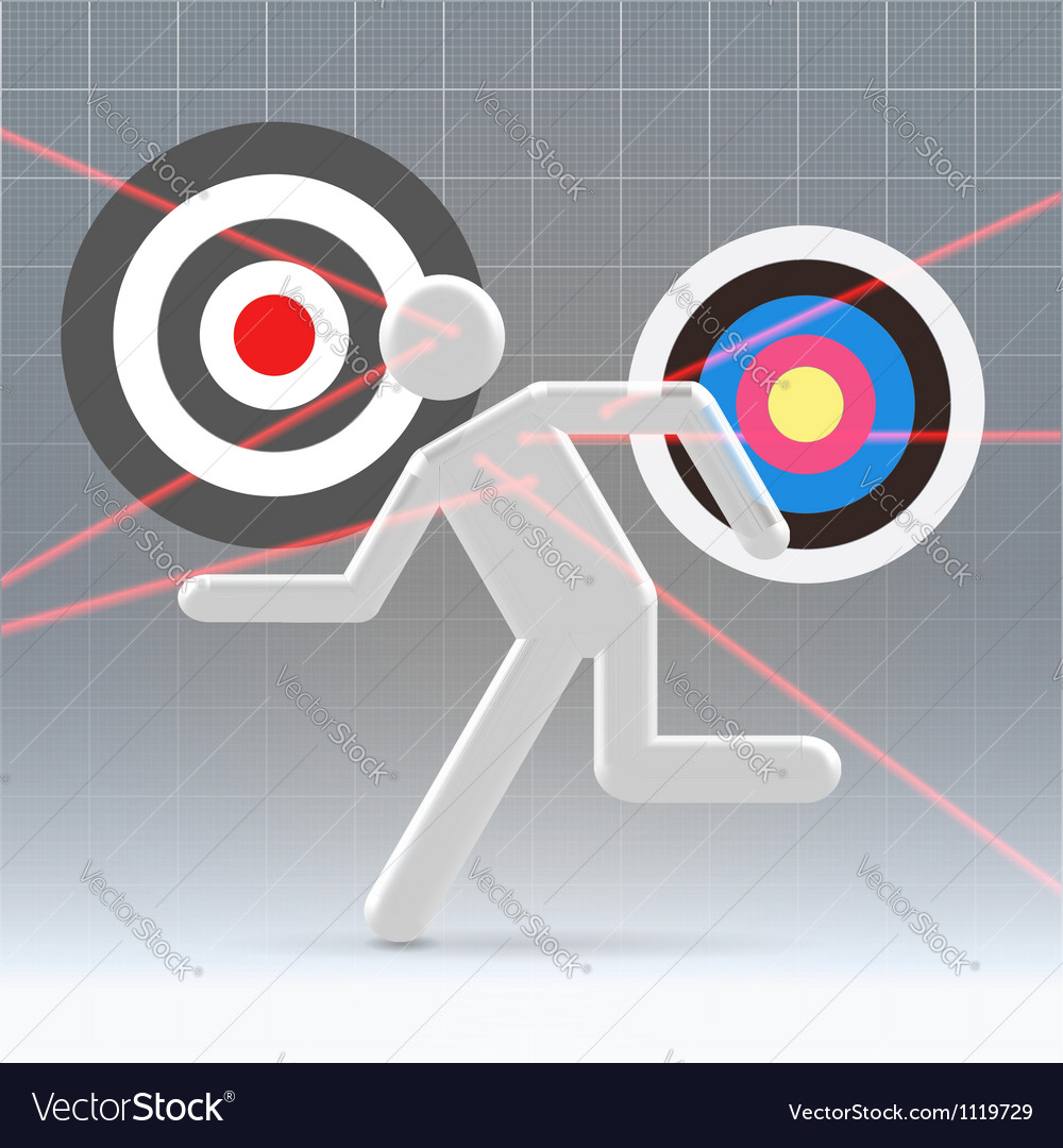 Potential user aiming process vector | Price: 1 Credit (USD $1)