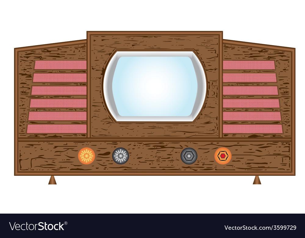 Retro television set vector | Price: 1 Credit (USD $1)