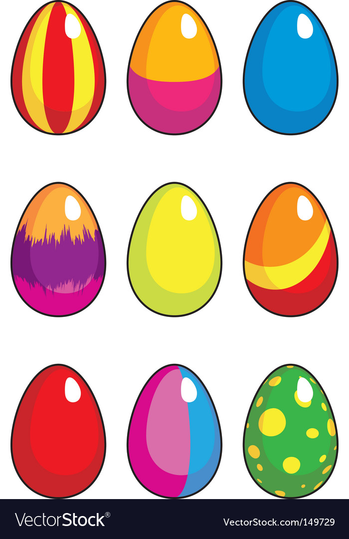 Set easter eggs vector | Price: 1 Credit (USD $1)