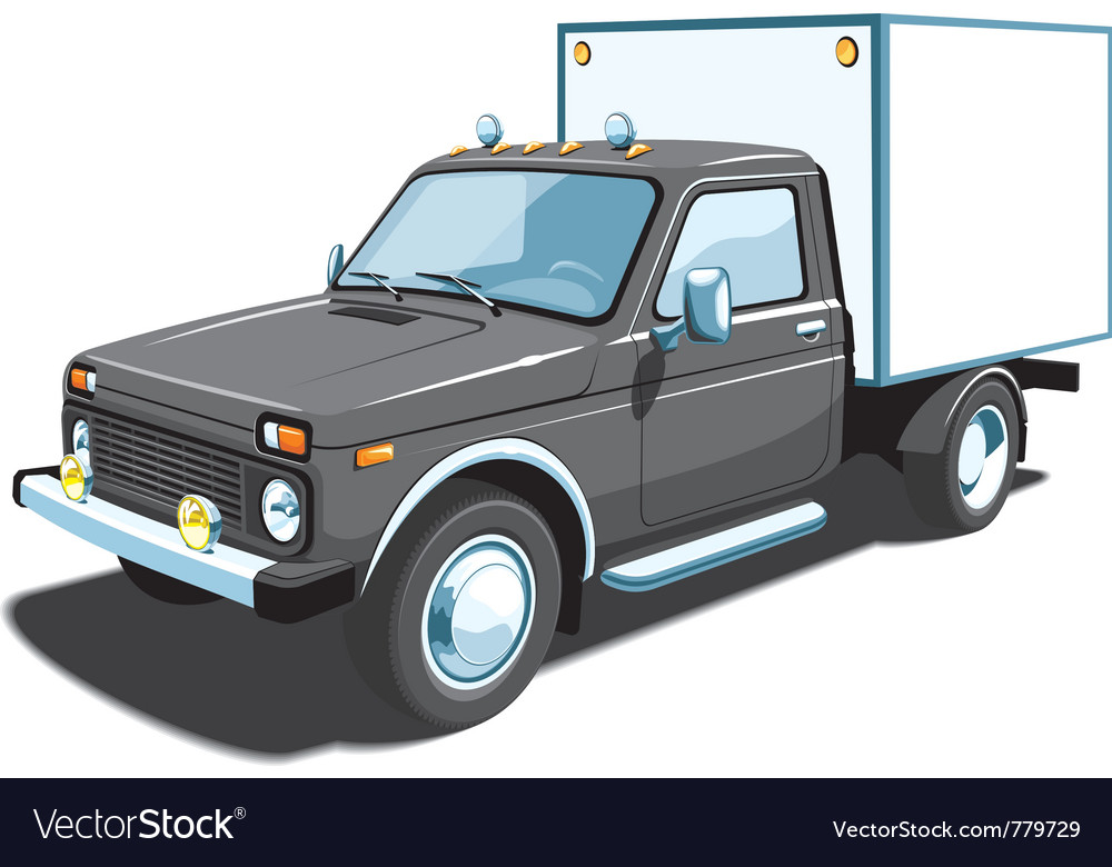 Small delivery truck vector | Price: 3 Credit (USD $3)