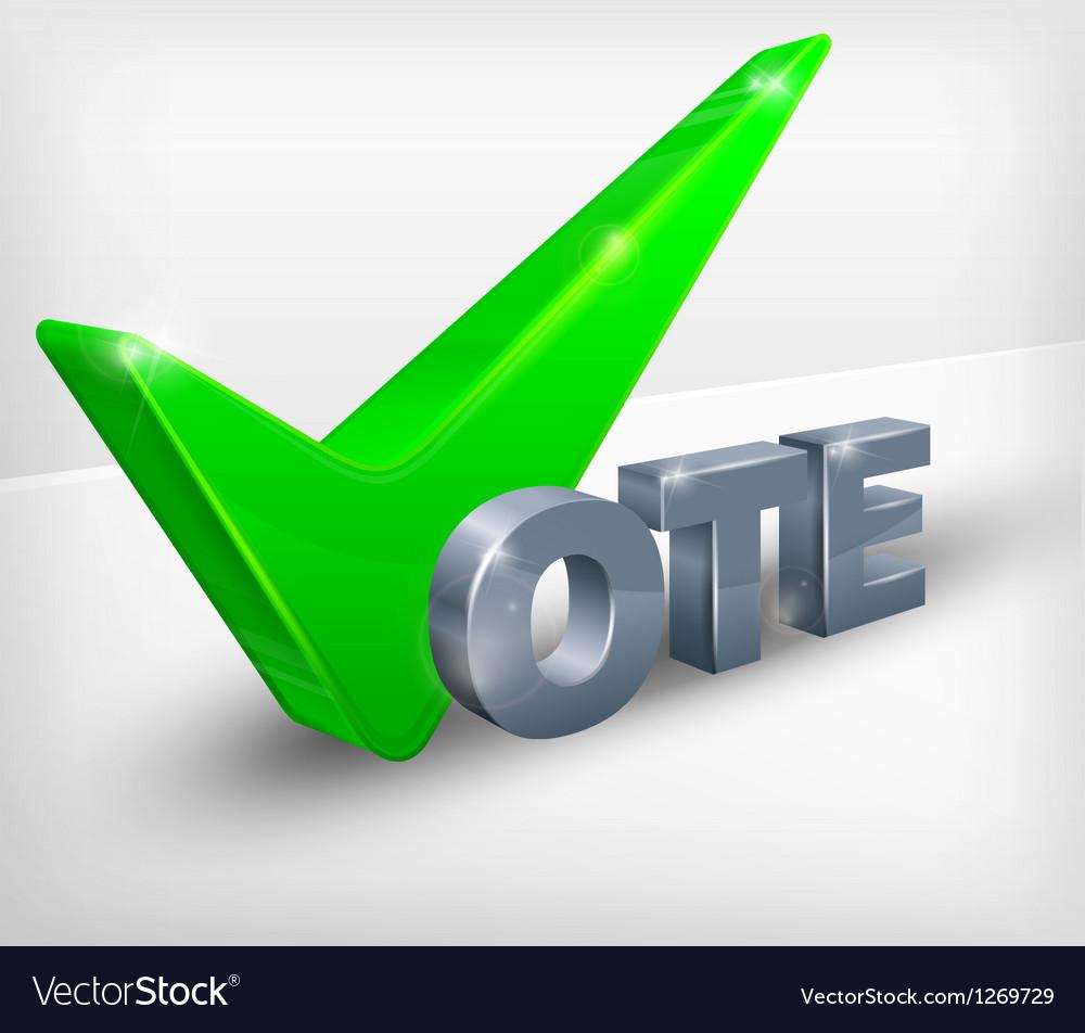 Vote check mark on white vector | Price: 1 Credit (USD $1)