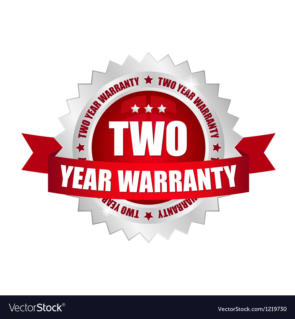 2 year warranty button vector | Price: 1 Credit (USD $1)