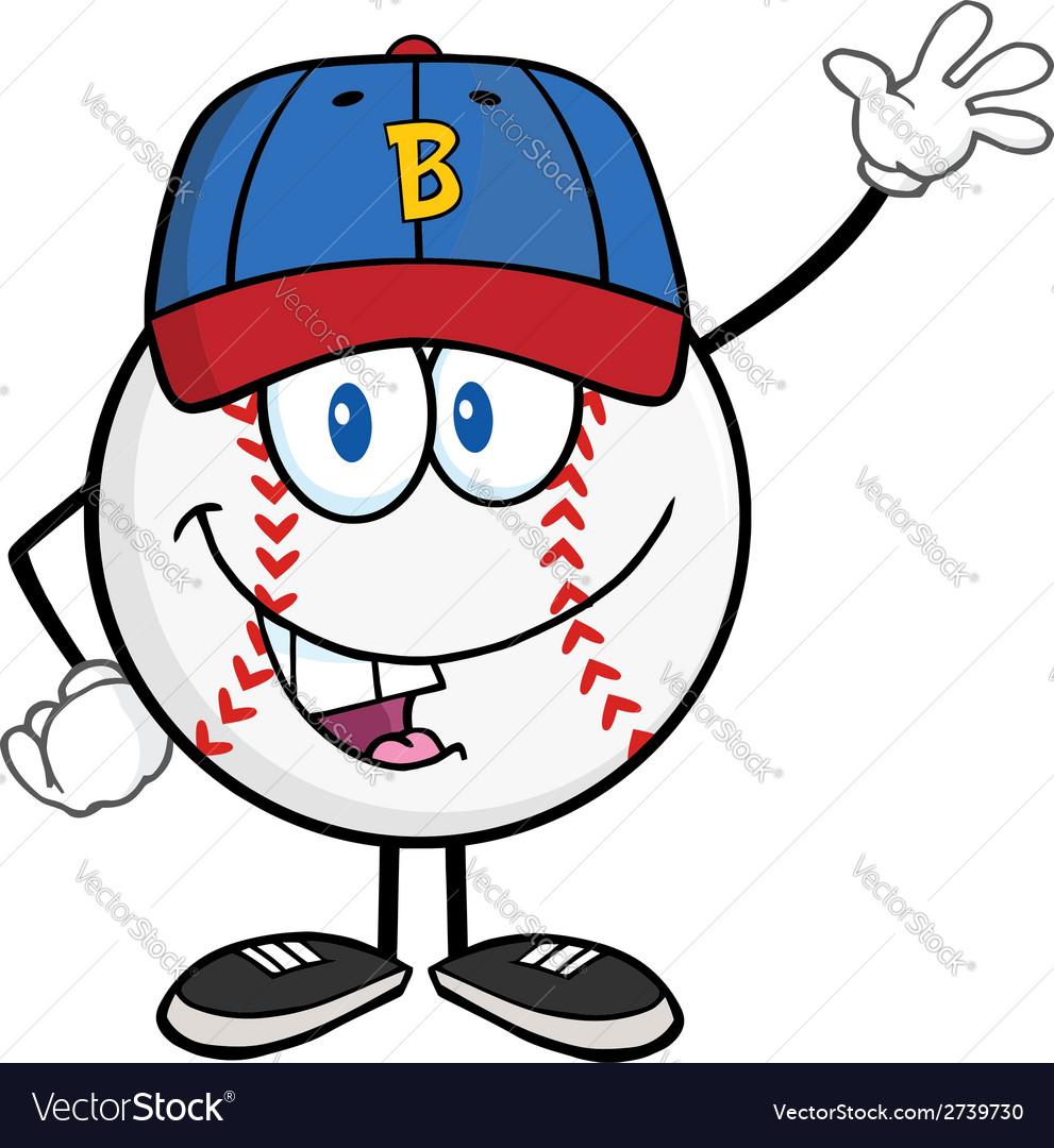 Cartoon baseball design elements vector | Price: 1 Credit (USD $1)
