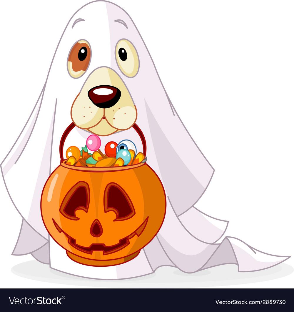 Halloween dog vector | Price: 1 Credit (USD $1)