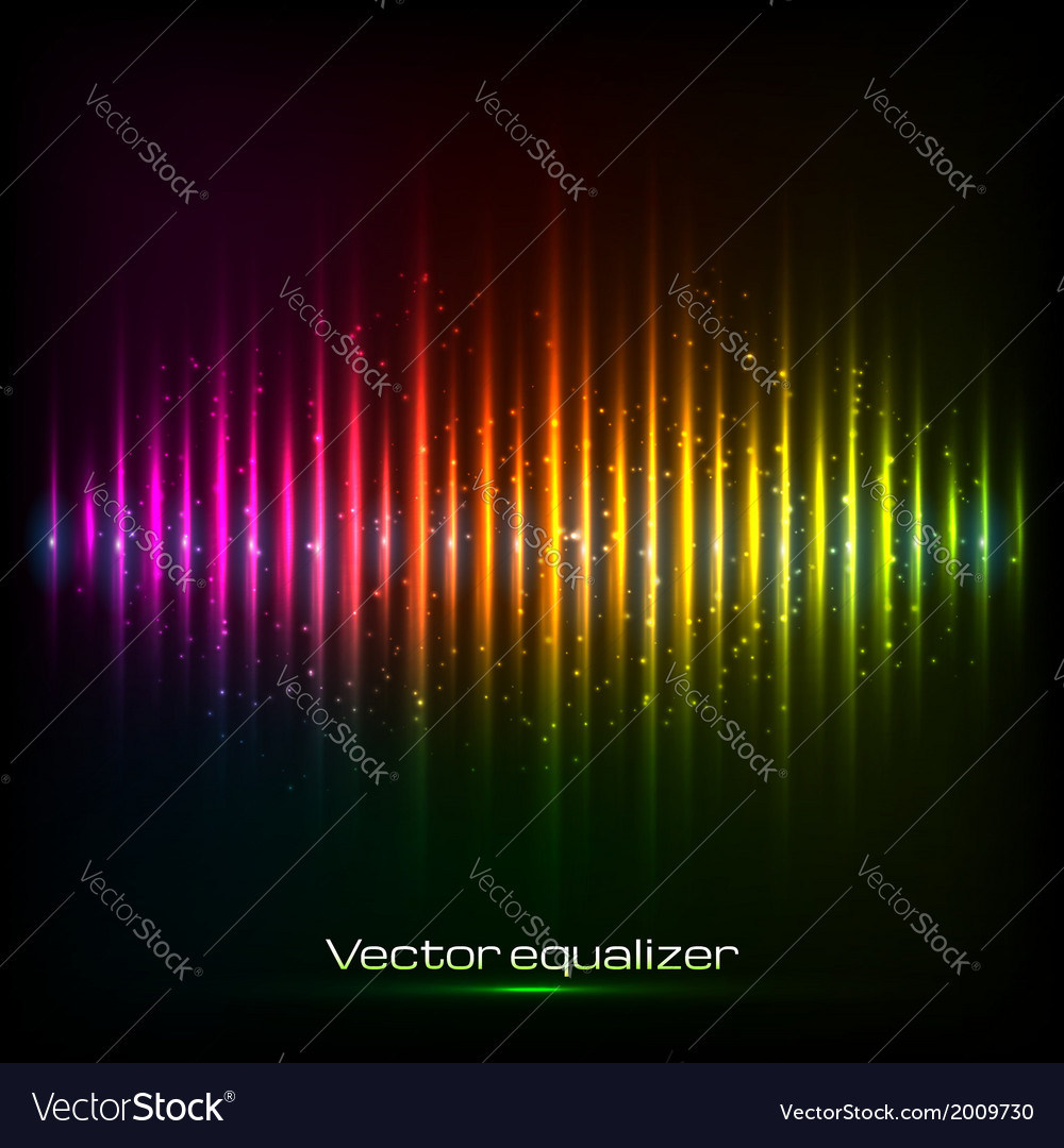 Rainbow equalizer vector | Price: 1 Credit (USD $1)