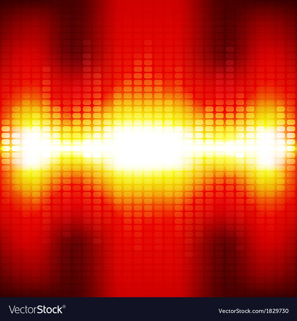 Red digital equalizer background with flares vector | Price: 1 Credit (USD $1)