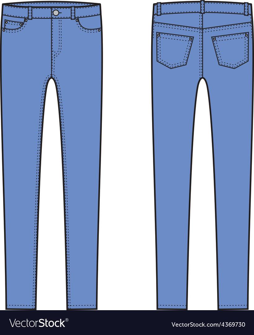 Skinny pants vector   Price: 1 Credit (USD $1)