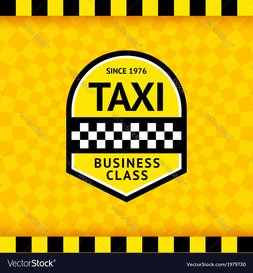 Taxi symbol with checkered background - 23 vector | Price: 1 Credit (USD $1)