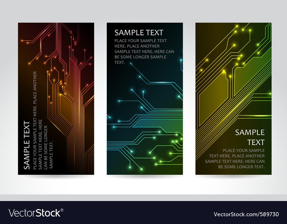 Technical banners vector | Price: 1 Credit (USD $1)