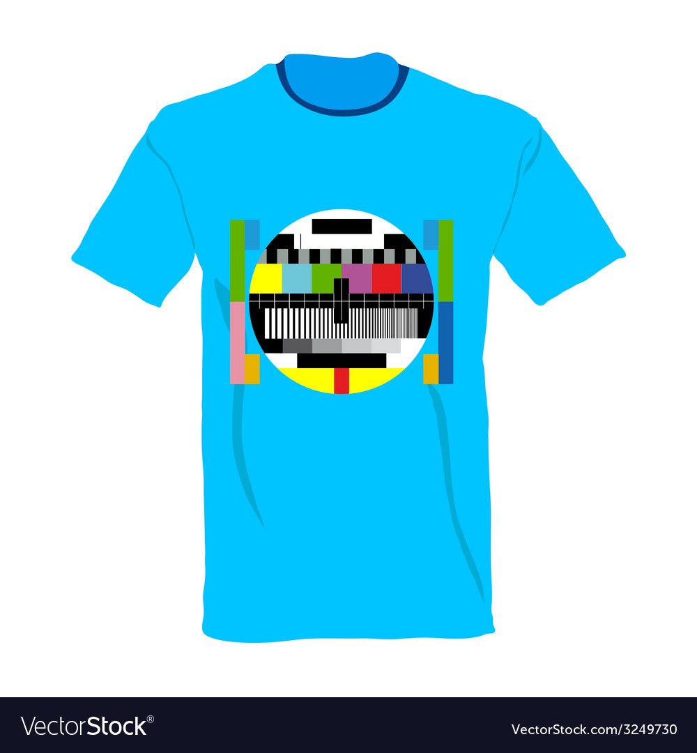 Tv test on shirt vector | Price: 1 Credit (USD $1)