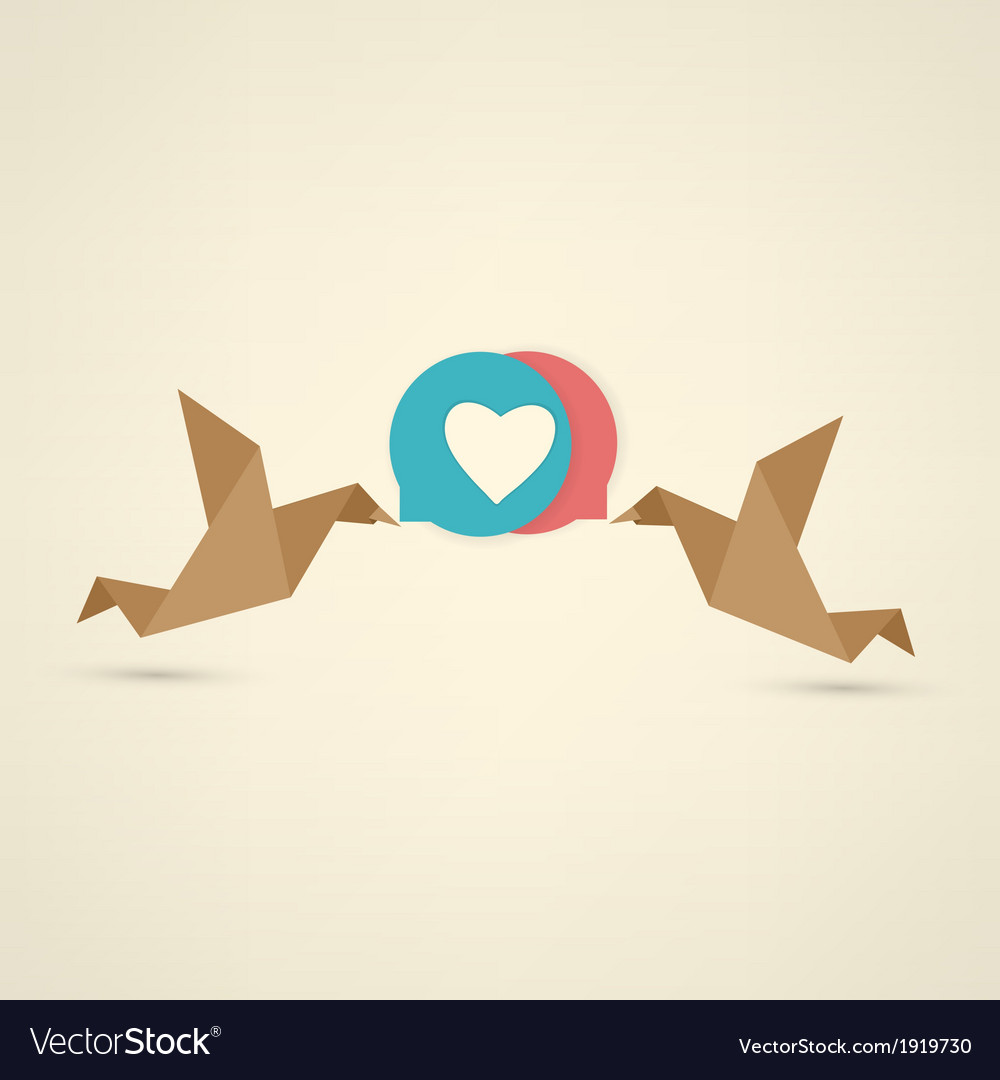 Vintage birds and heart set vector | Price: 1 Credit (USD $1)