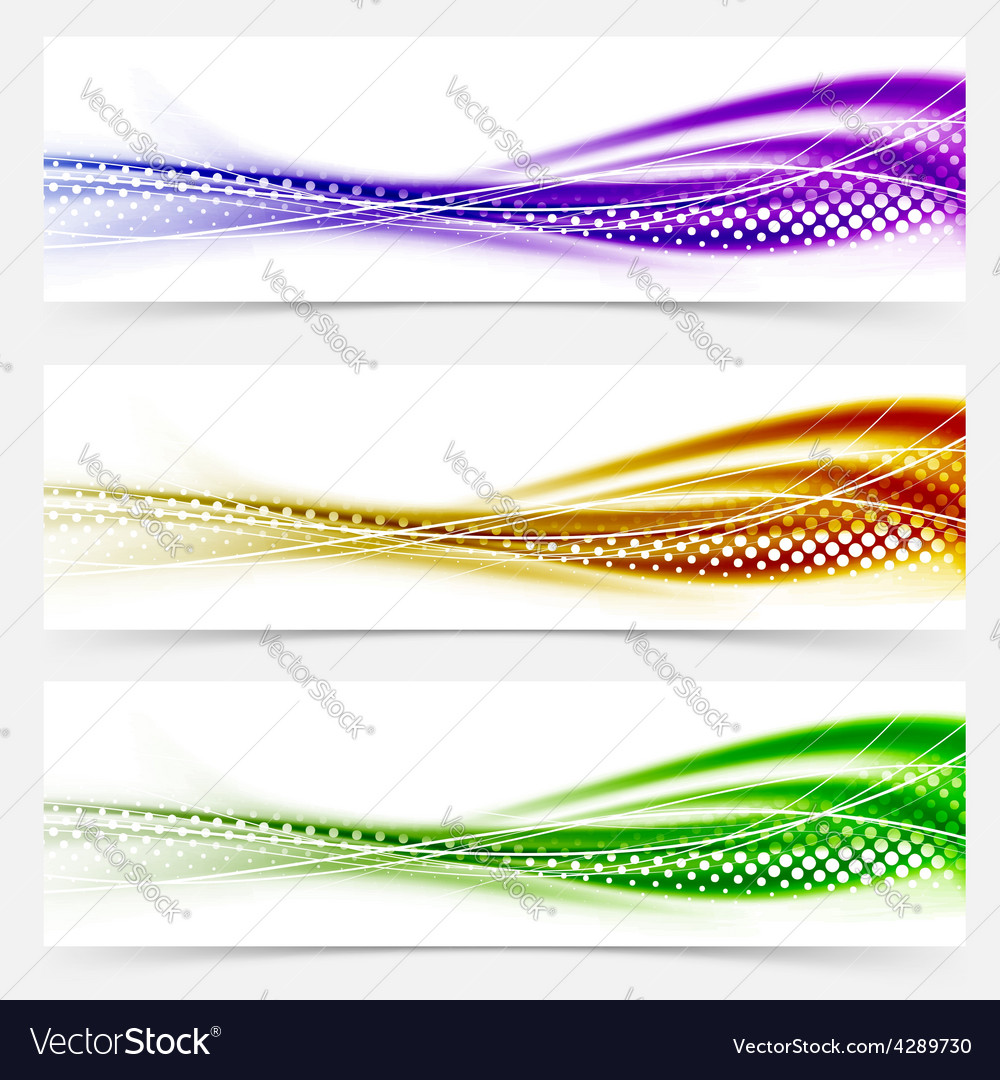 Vivid speed swoosh abstract line banner footer vector | Price: 1 Credit (USD $1)