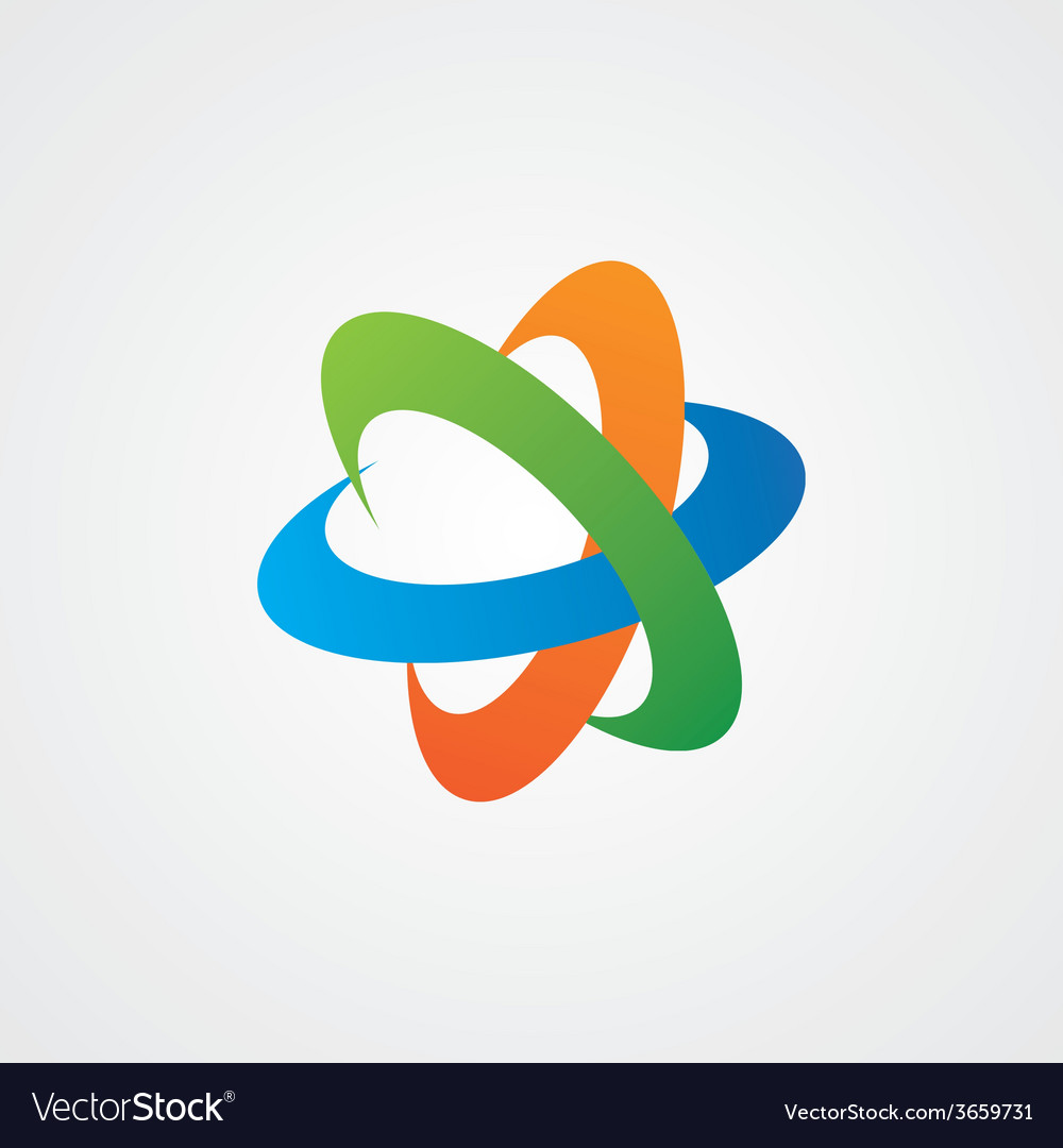 Abstract logotype of sphere vector | Price: 1 Credit (USD $1)