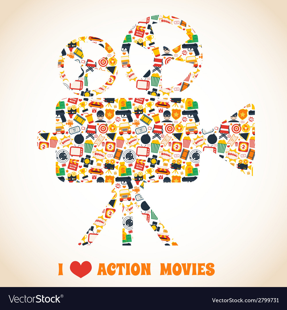 Action movie camera vector | Price: 1 Credit (USD $1)