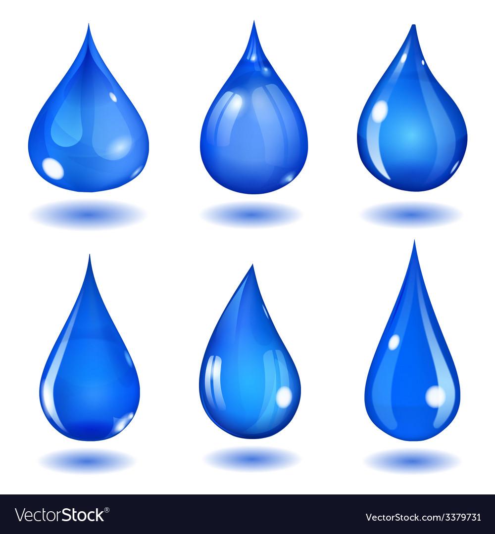 Blue drops vector | Price: 1 Credit (USD $1)