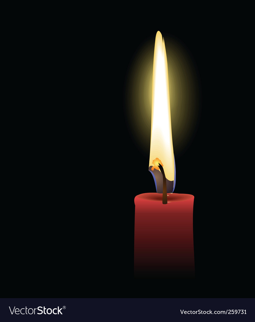 Candle light vector | Price: 3 Credit (USD $3)