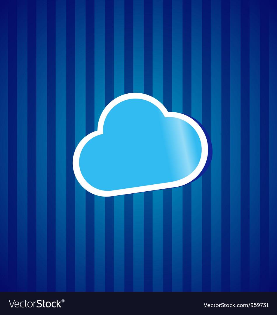 Cloud computing sticker concept vector | Price: 1 Credit (USD $1)
