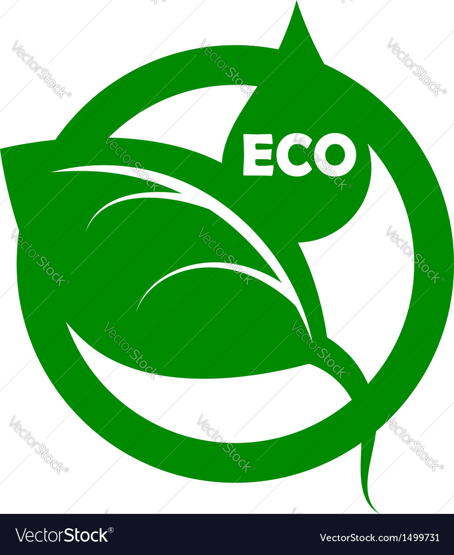 Eco emblem vector | Price: 1 Credit (USD $1)