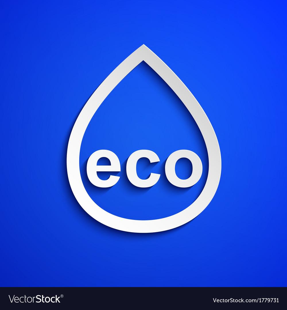 Eco symbol design element eps10 vector | Price: 1 Credit (USD $1)