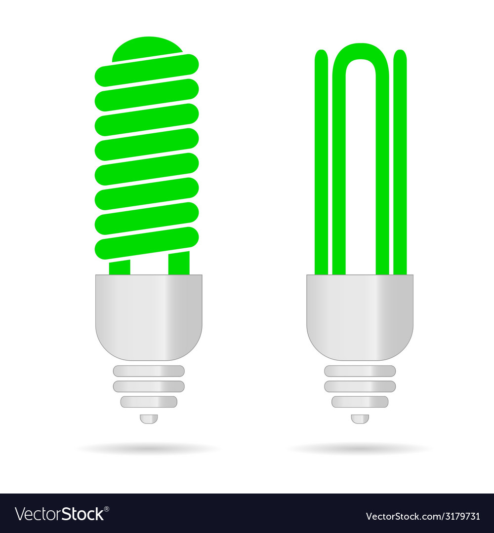 Energy saving green light bulbs vector | Price: 1 Credit (USD $1)