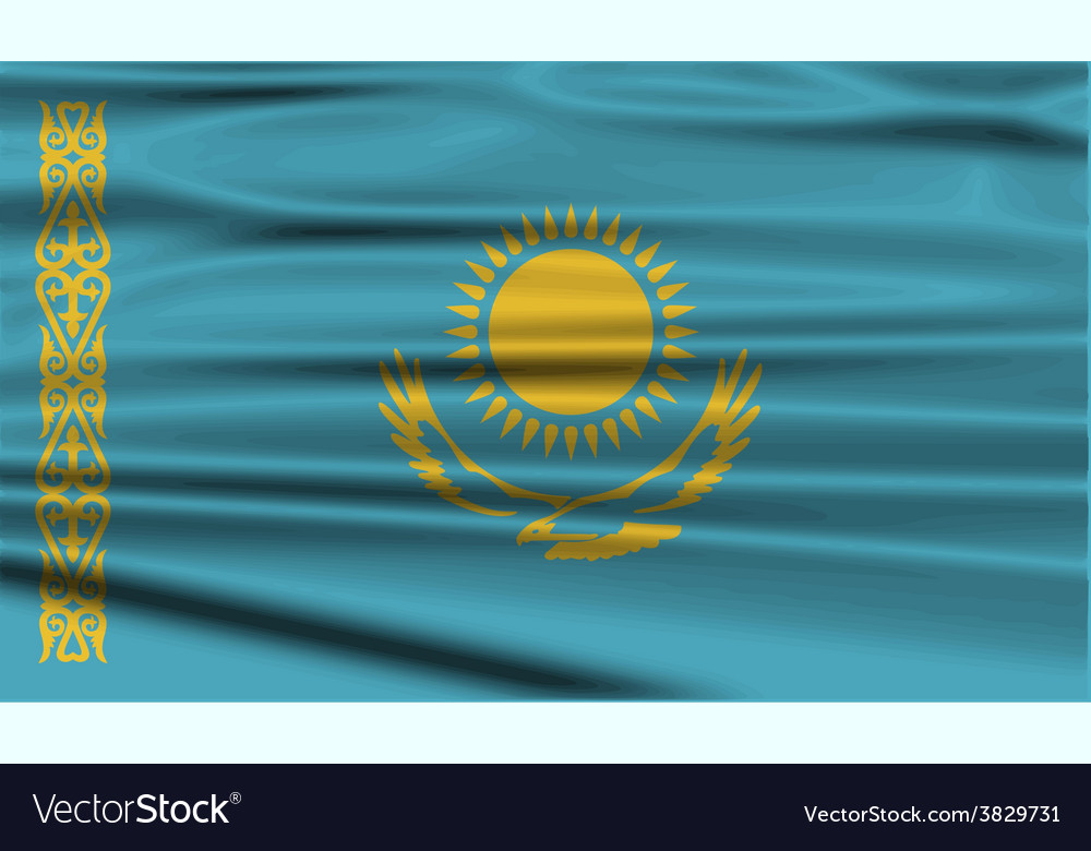 Flag of kazakhstan with old texture vector | Price: 1 Credit (USD $1)