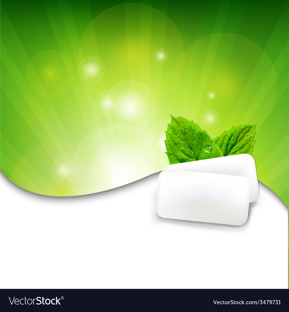 Green wall with mint gum vector | Price: 1 Credit (USD $1)