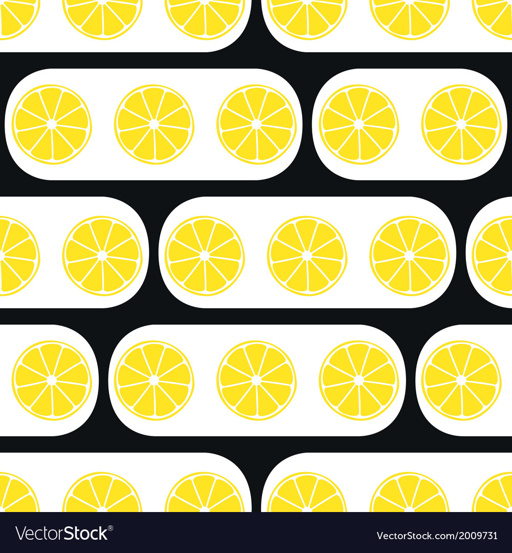 Lemons slices with black modern ornament vector | Price: 1 Credit (USD $1)