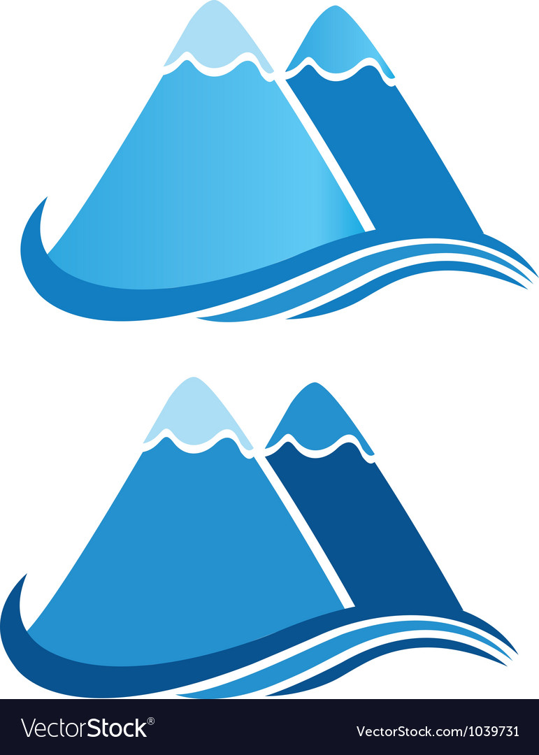 Mountains logo vector | Price: 1 Credit (USD $1)