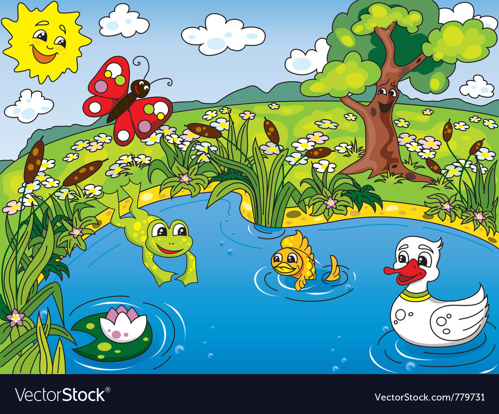Pond life vector | Price: 3 Credit (USD $3)
