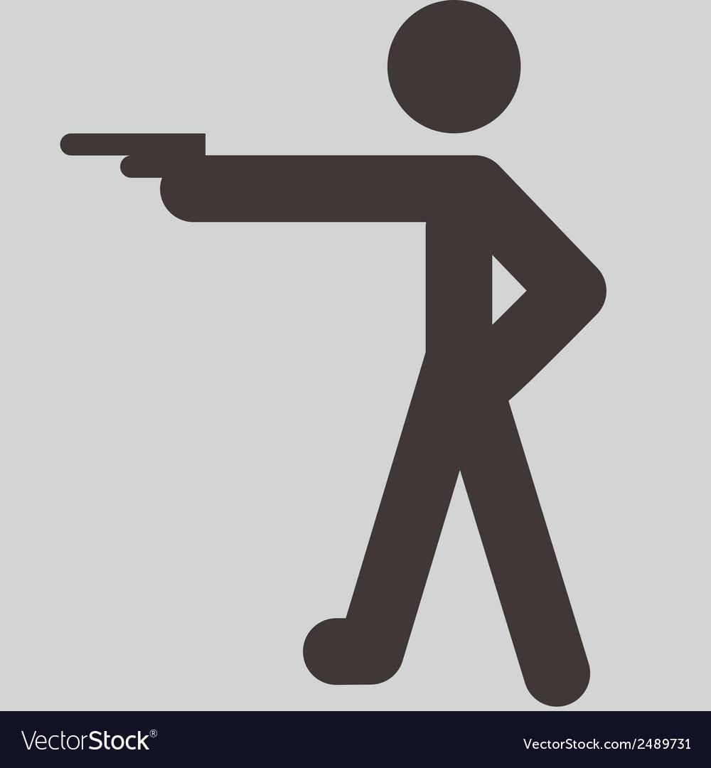 Shooting icon vector | Price: 1 Credit (USD $1)