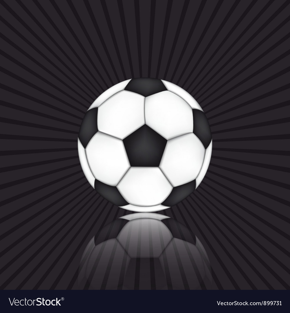 Soccer ball on black background vector | Price: 1 Credit (USD $1)